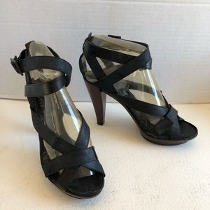 Lanvin 2011 strappy ankle high heel sandal shoes